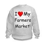 Heart Farmers Market Kids Sweatshirt