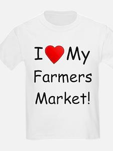 Heart Farmers Market Kids T-Shirt