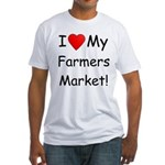 Heart Farmers Market Fitted T-Shirt