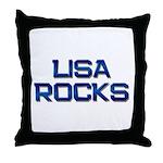 lisa rocks Throw Pillow