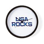 lisa rocks Wall Clock
