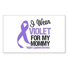 I Wear Violet For Mommy Rectangle Decal