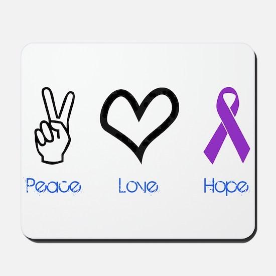 Peace Love Hope Mousepad