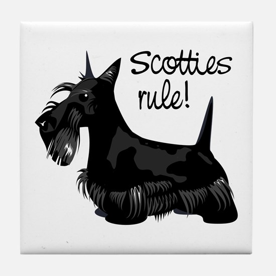 Scotties Rule! Tile Coaster