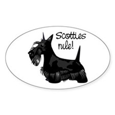 Scotties Rule! Oval Decal