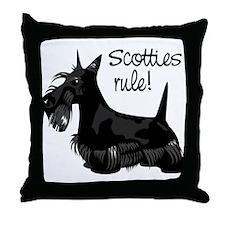 Scotties Rule! Throw Pillow