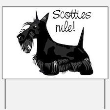 Scotties Rule! Yard Sign