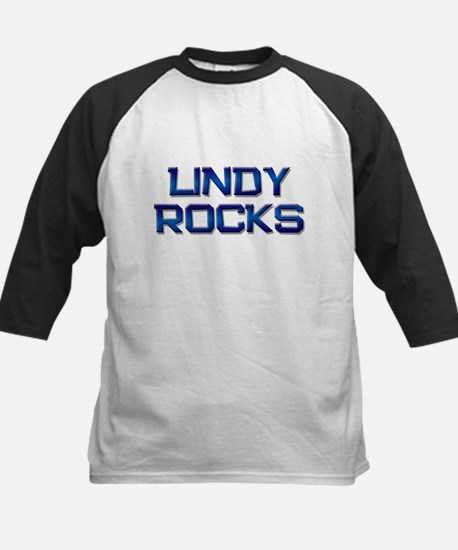 lindy rocks Kids Baseball Jersey