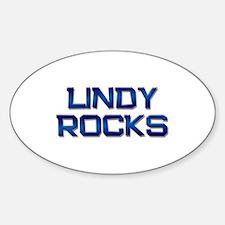 lindy rocks Oval Stickers