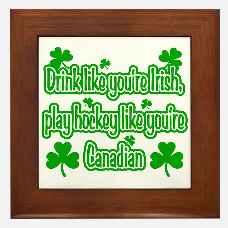 Drink Like You're Irish... Framed Tile