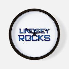 lindsey rocks Wall Clock