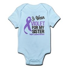 I Wear Violet For My Sister Infant Bodysuit