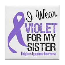 I Wear Violet For My Sister Tile Coaster