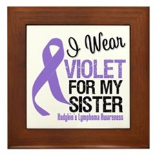 I Wear Violet For My Sister Framed Tile