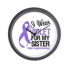 I Wear Violet For My Sister Wall Clock