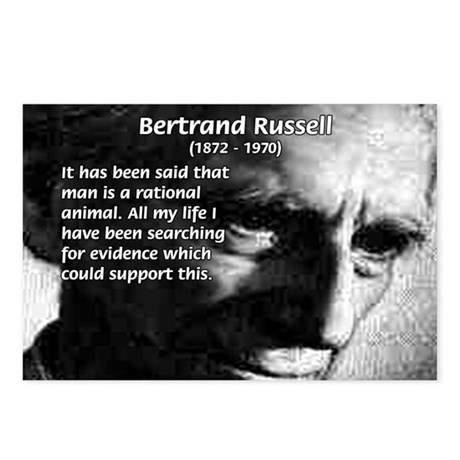 Bertrand Russell Postcards (Package of 8)