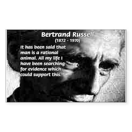 Bertrand Russell Rectangle Sticker