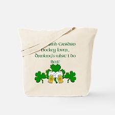 Irish Canadian Hockey Lover Tote Bag