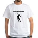 Volleyball White T-Shirt