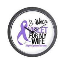 I Wear Violet For My Wife Wall Clock