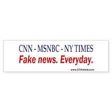 CNN - MSNBC - NY TIMES Bumper Sticker (10 pk)