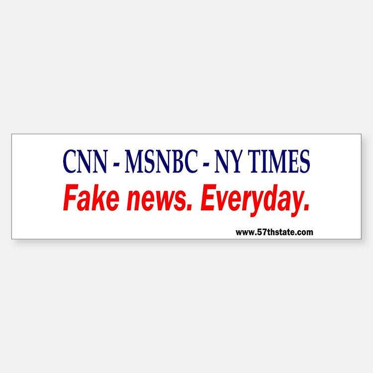 CNN - MSNBC - NY TIMES Bumper Bumper Bumper Sticker