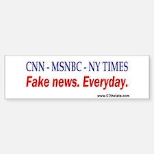 CNN - MSNBC - NY TIMES Bumper Car Car Sticker