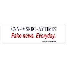 CNN - MSNBC - NY TIMES Bumper Car Sticker