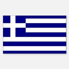 Greece Flag Rectangle Decal