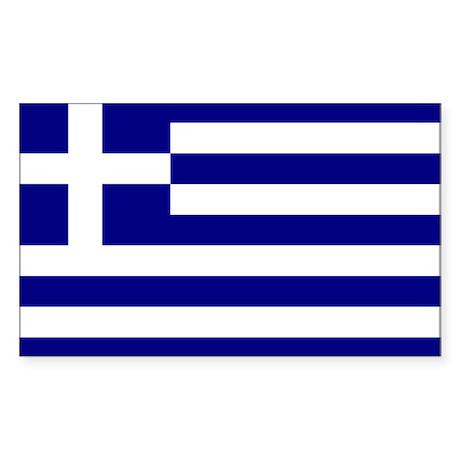 Greece Flag Rectangle Sticker