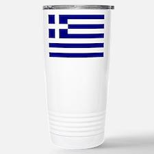 Greece Flag Travel Mug