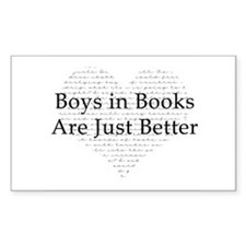 Boys in Books Rectangle Decal