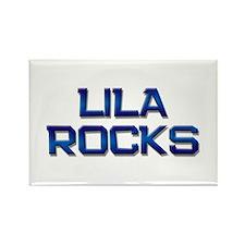 lila rocks Rectangle Magnet
