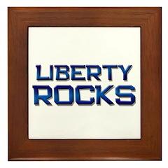 liberty rocks Framed Tile