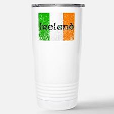 Ireland Flag Distressed Look Travel Mug
