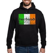 Ireland Flag Distressed Look Hoodie
