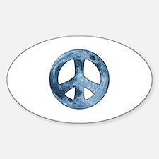 Moon Peace II Oval Decal