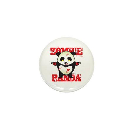 Zombie Panda Mini Button