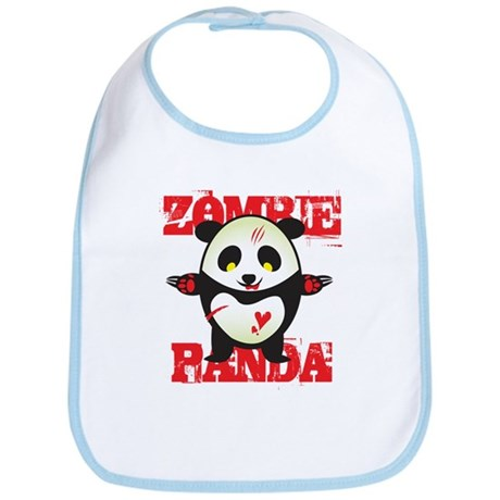 Zombie Panda Bib