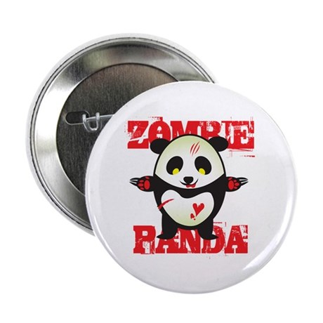 "Zombie Panda 2.25"" Button (10 pack)"