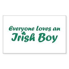 Everyone Loves an Irish Boy Rectangle Decal