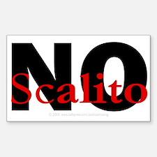 No Scalito Rectangle Decal