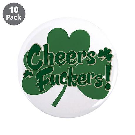 """Irish Toast 3.5"""" Button (10 pack)"""