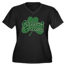Irish Toast Women's Plus Size V-Neck Dark T-Shirt