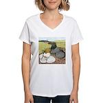 Trumpeter Pigeon Pair Women's V-Neck T-Shirt