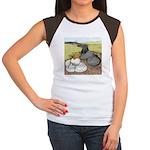 Trumpeter Pigeon Pair Women's Cap Sleeve T-Shirt