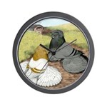 Trumpeter Pigeon Pair Wall Clock