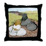 Trumpeter Pigeon Pair Throw Pillow