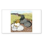 Trumpeter Pigeon Pair Rectangle Sticker 50 pk)