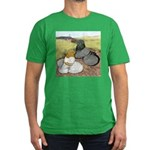 Trumpeter Pigeon Pair Men's Fitted T-Shirt (dark)